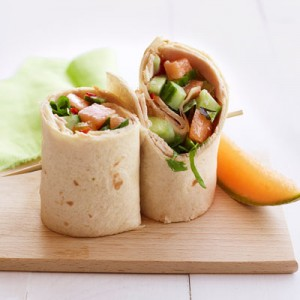 Turkey and Cucumber Salad Wraps
