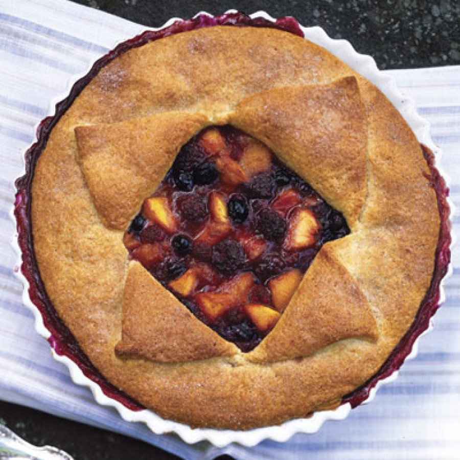 Deep-Dish Peach and Berry Pie