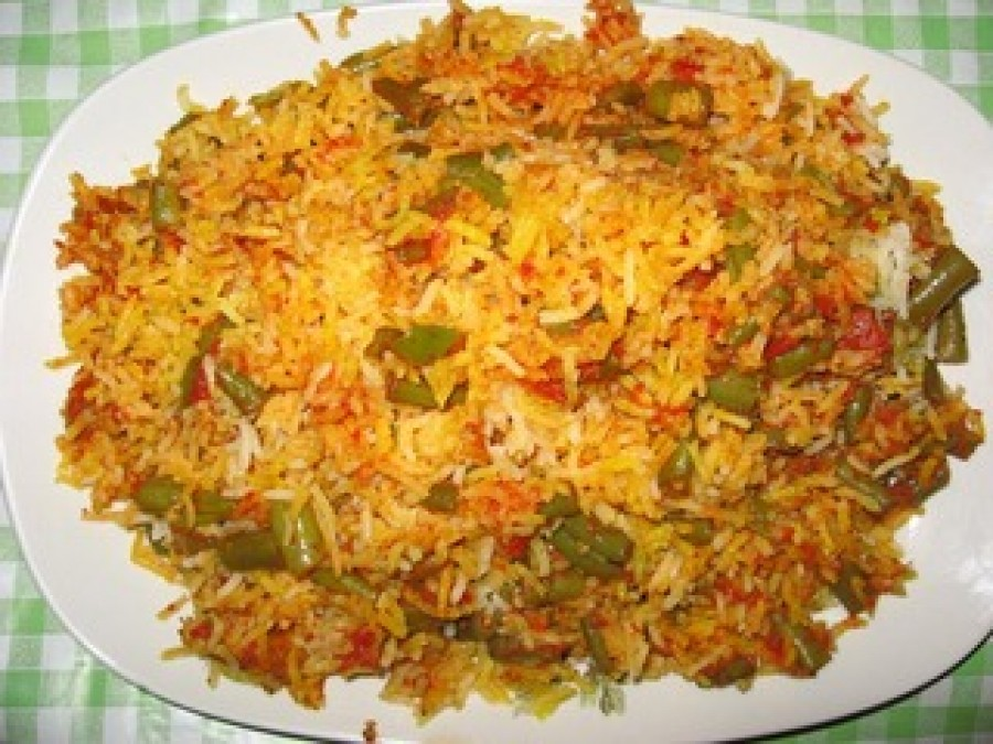 Loobia Polo (Polow) Recipe