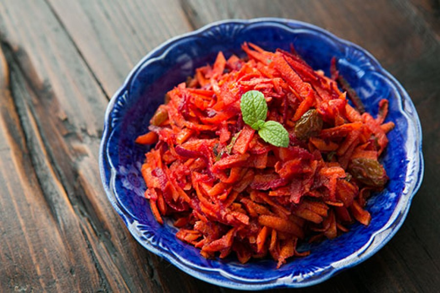 Moroccan Grated Carrot and Beet Salad Recipe