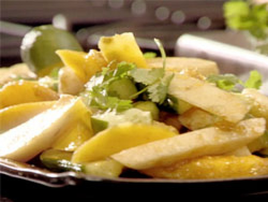 Apple, Mango and Radish Salad