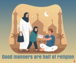 Good manners are half of religion